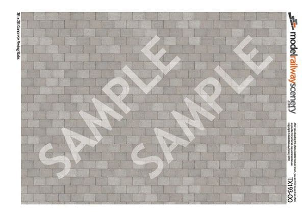 TX193-OO 3ft x 2ft Concrete Paving Slabs Pristine (Pack of 5) OO/4mm/1:76